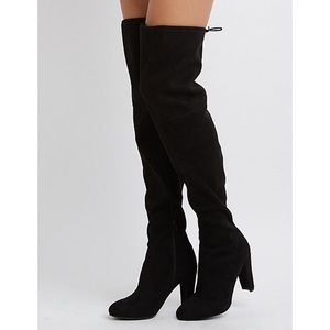 Charlotte Russe Knee High Tie Boots